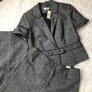 NWT 2pc Loft Julie Pants and Cap Sleeve Blazer